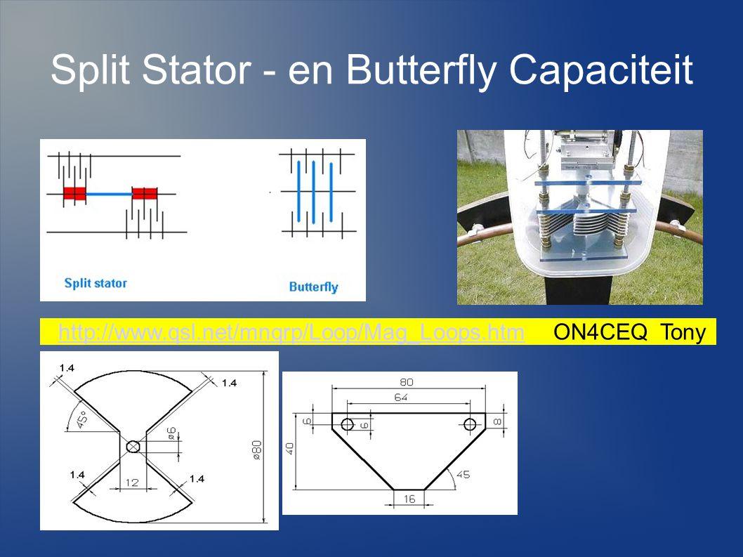 Split Stator - en Butterfly Capaciteit