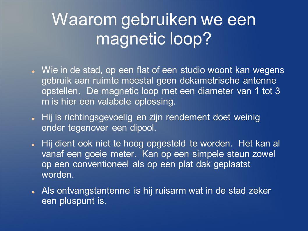 Waarom gebruiken we een magnetic loop