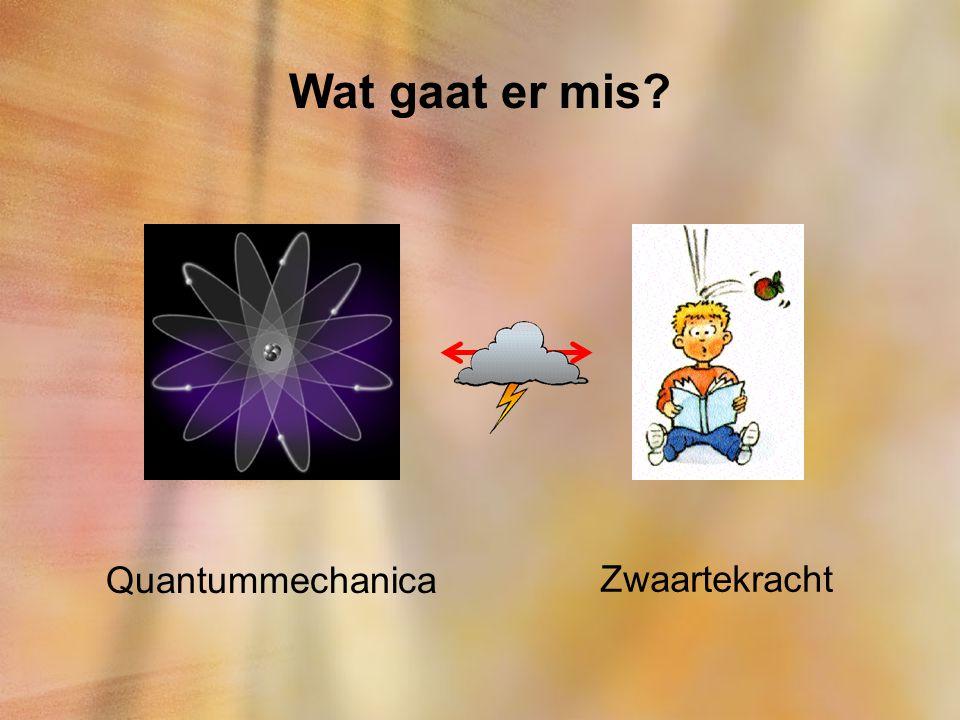Wat gaat er mis Quantummechanica Zwaartekracht