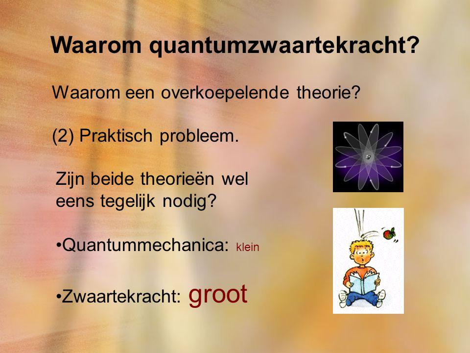 Waarom quantumzwaartekracht