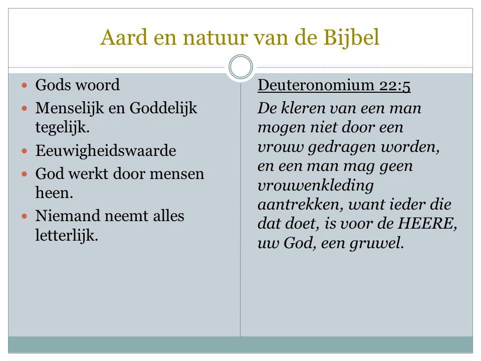 Aard en natuur van de Bijbel