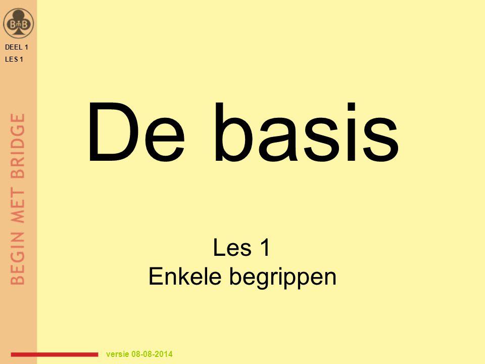 DEEL 1 LES 1 De basis Les 1 Enkele begrippen versie 08-08-2014