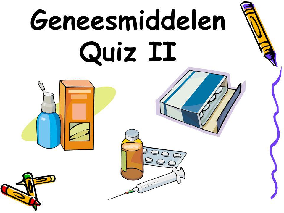 De GeneesmiddelenQuiz II