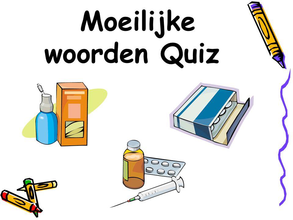 Moeilijke woorden Quiz