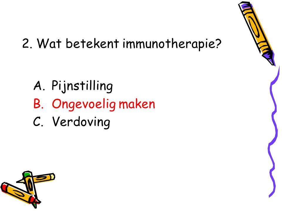 2. Wat betekent immunotherapie
