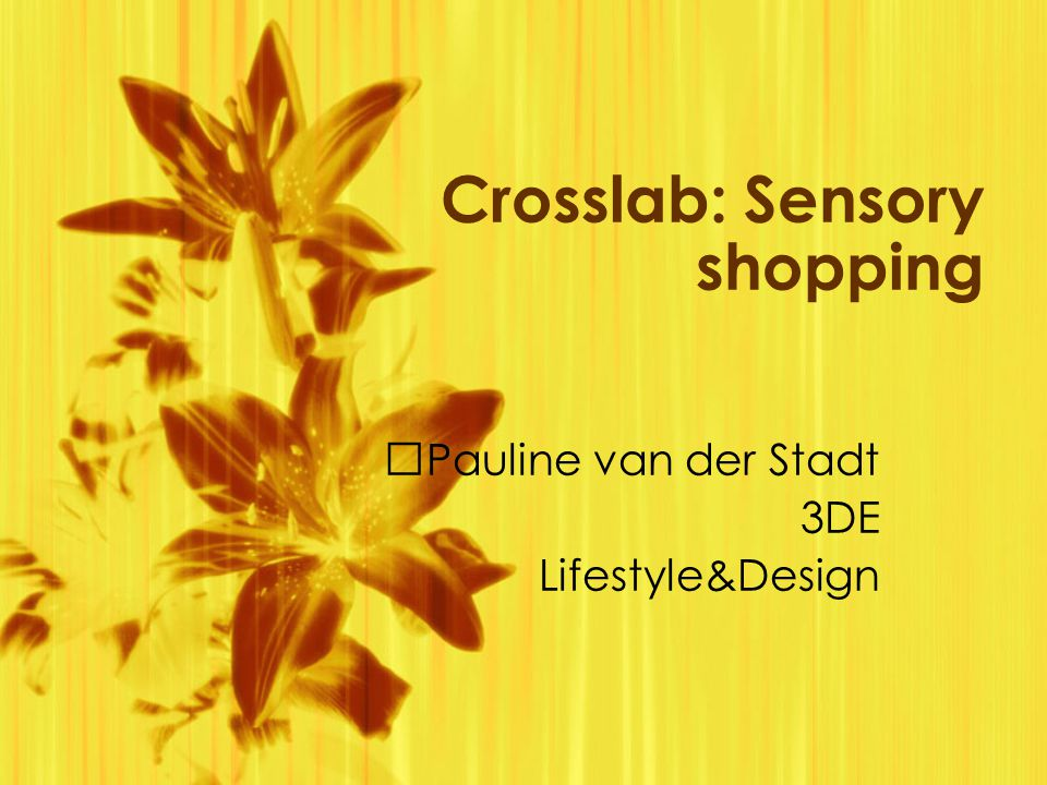 Crosslab: Sensory shopping