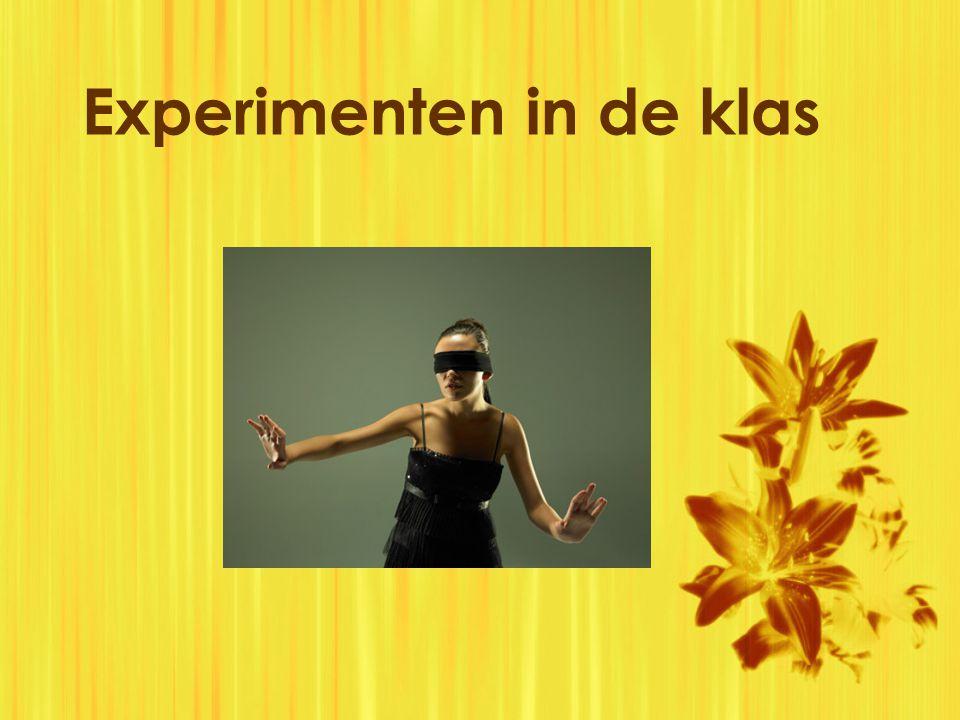 Experimenten in de klas