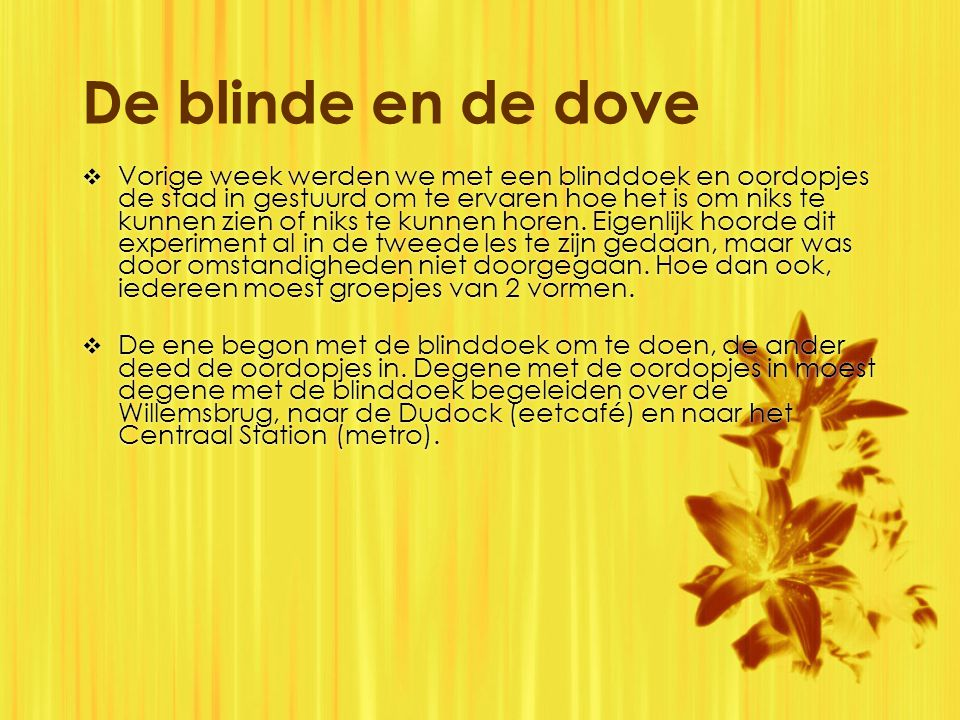 De blinde en de dove