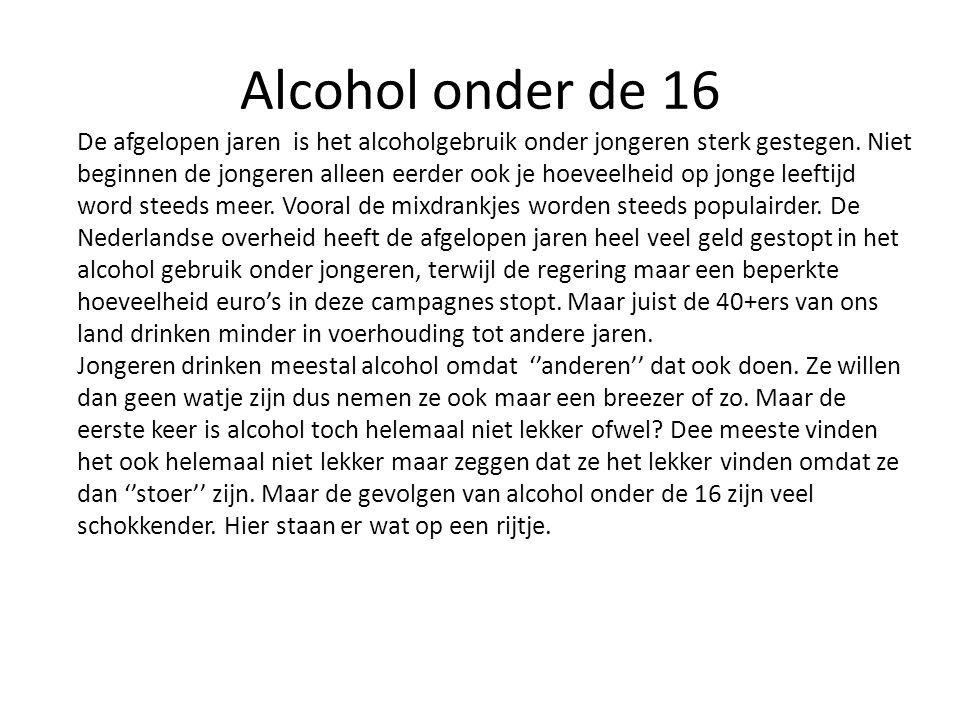 Alcohol onder de 16