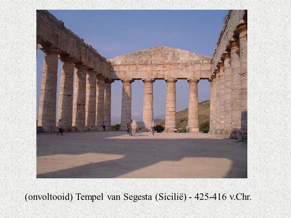 (onvoltooid) Tempel van Segesta (Sicilië) - 425-416 v.Chr.