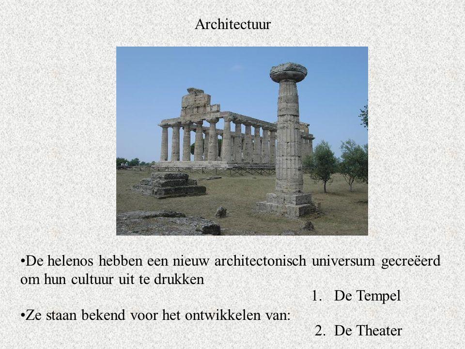 Architectuur De helenos hebben een nieuw architectonisch universum gecreëerd om hun cultuur uit te drukken.