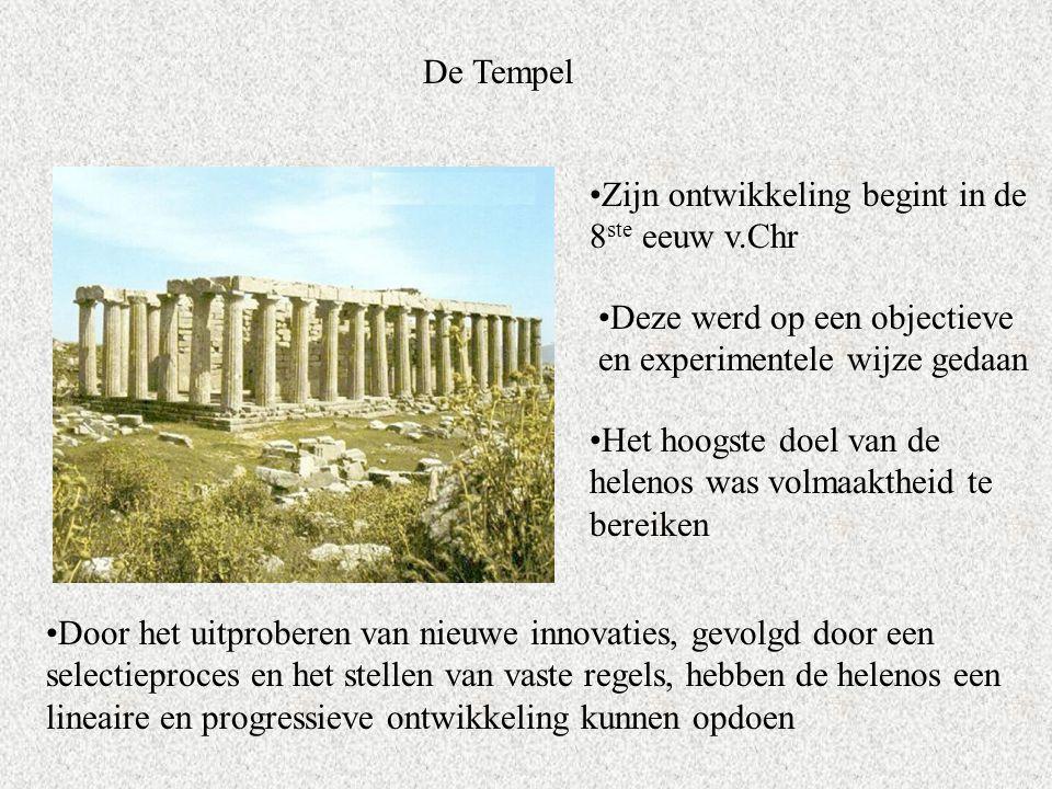 De Tempel Zijn ontwikkeling begint in de 8ste eeuw v.Chr. Deze werd op een objectieve en experimentele wijze gedaan.