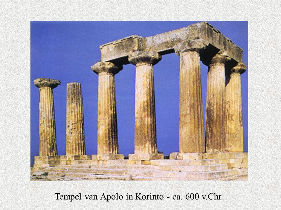 Tempel van Apolo in Korinto - ca. 600 v.Chr.