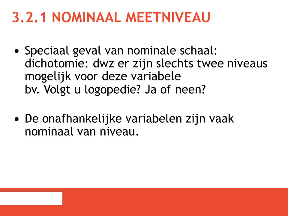 3.2.1 Nominaal meetniveau