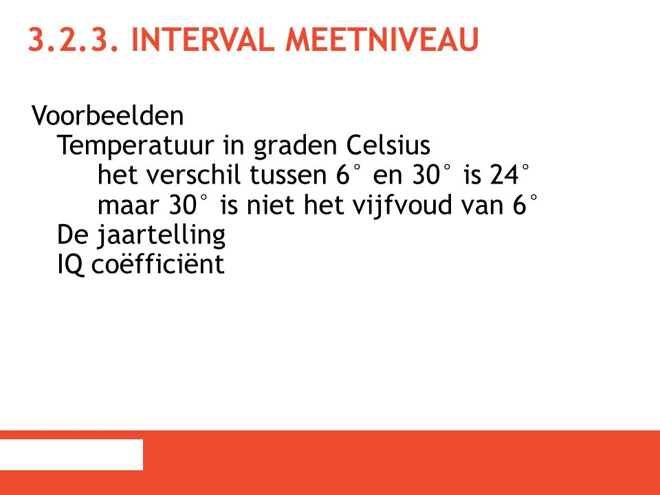 3.2.3. Interval meetniveau