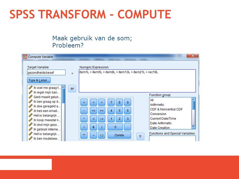 SPSS Transform - Compute
