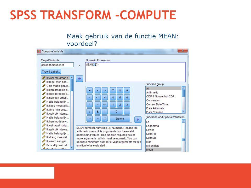 SPSS Transform -Compute