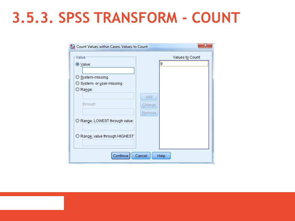 3.5.3. SPSS Transform - Count