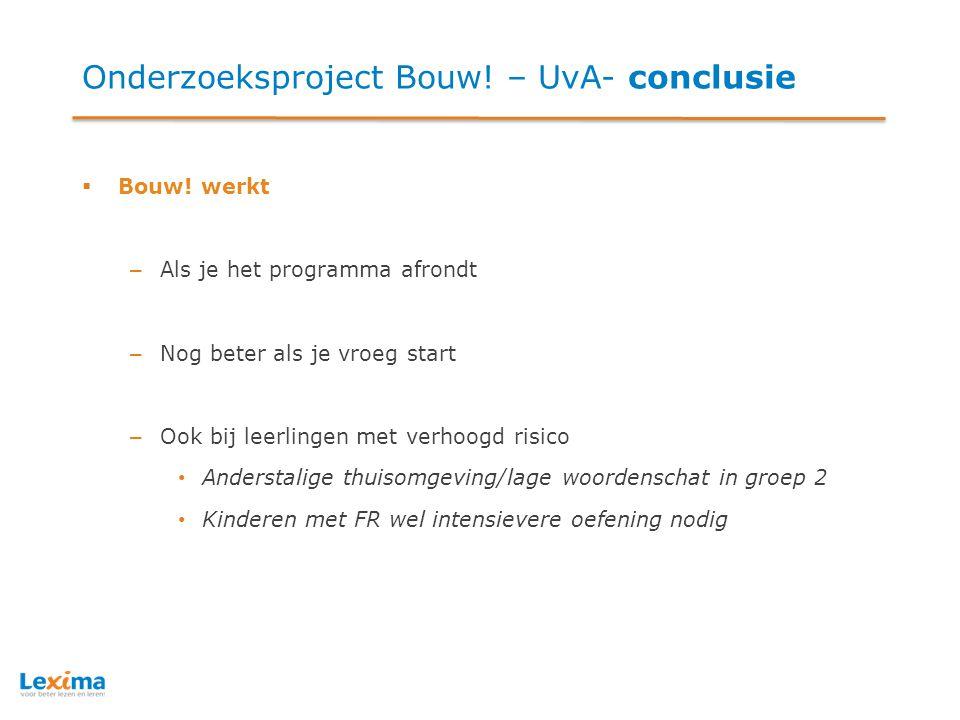 Onderzoeksproject Bouw! – UvA- conclusie