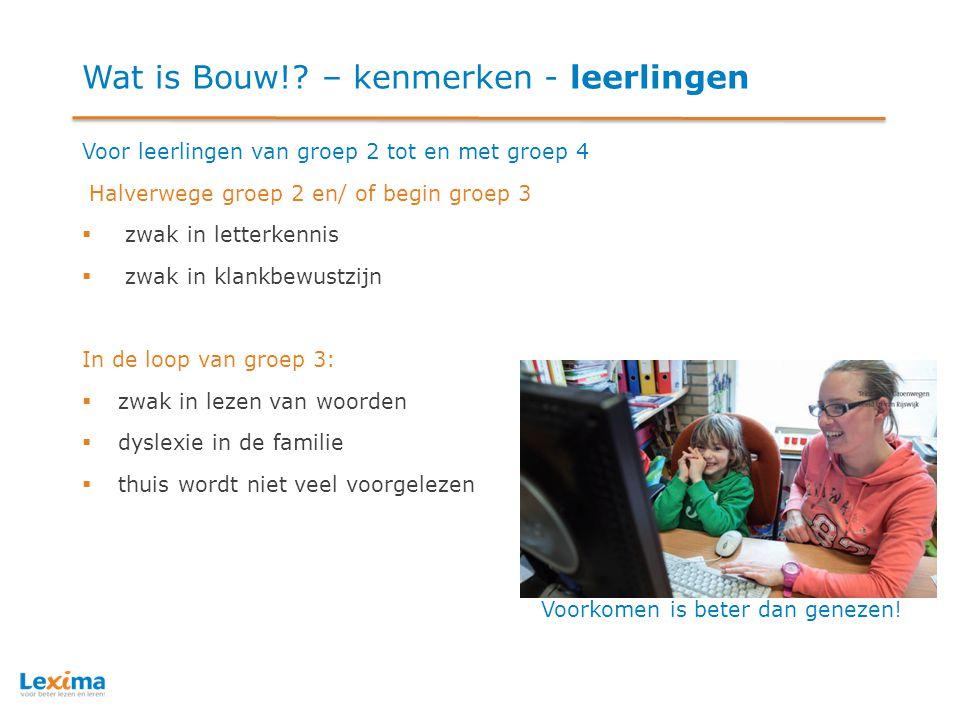 Wat is Bouw! – kenmerken - leerlingen