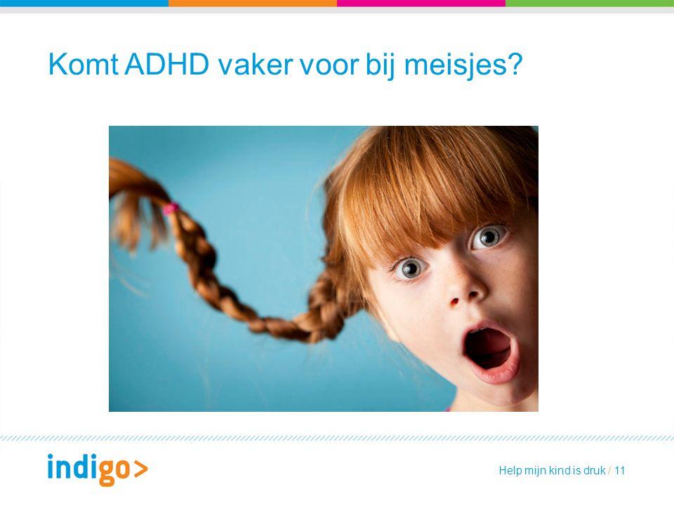 Komt ADHD vaker voor bij meisjes