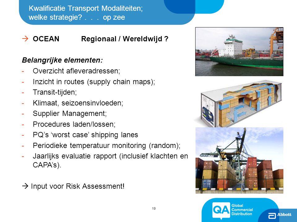 Kwalificatie Transport Modaliteiten; welke strategie . . . op zee