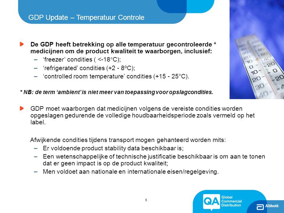 GDP Update – Temperatuur Controle