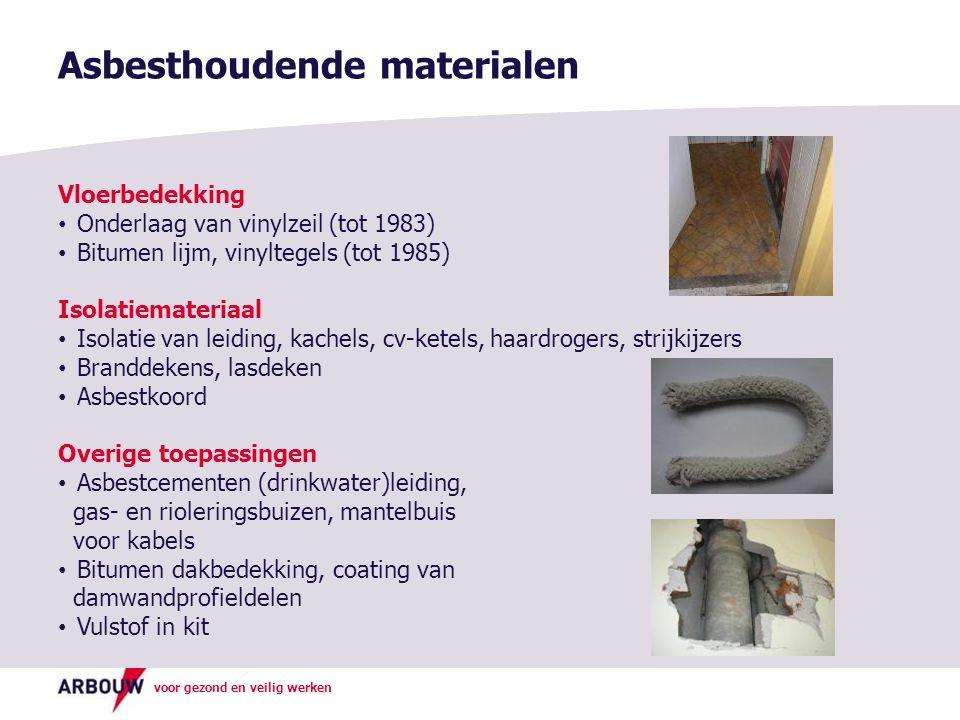 Asbesthoudende materialen