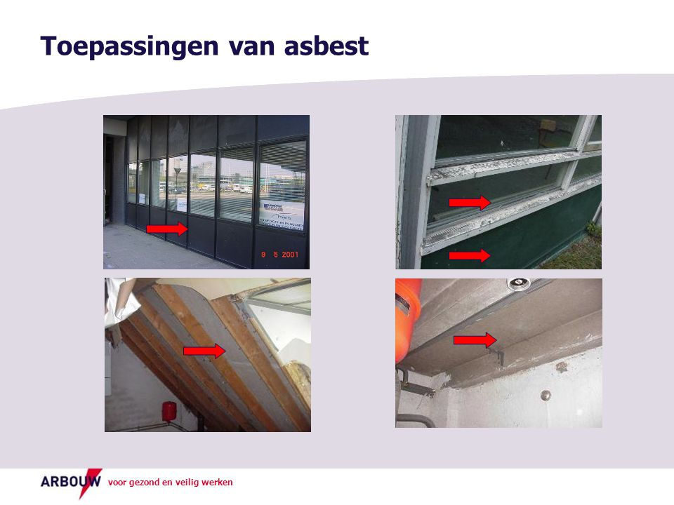 Toepassingen van asbest