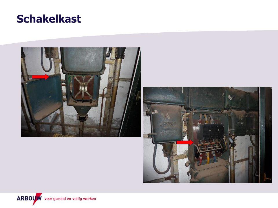 Schakelkast Foto boven: Asbestkoord in deur