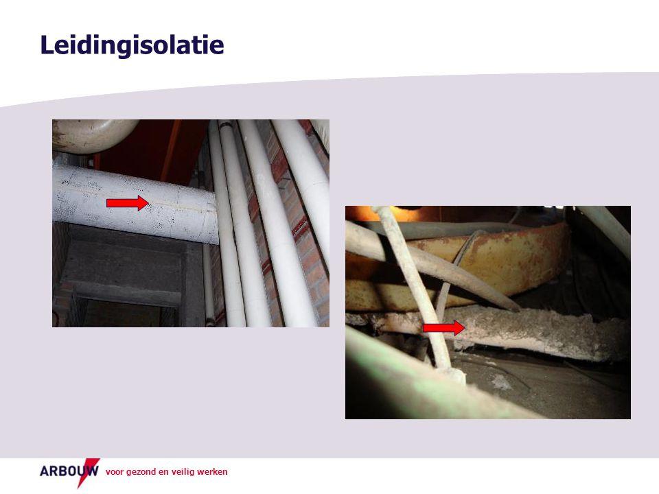Leidingisolatie Foto boven: Asbest isolatie om leidingen