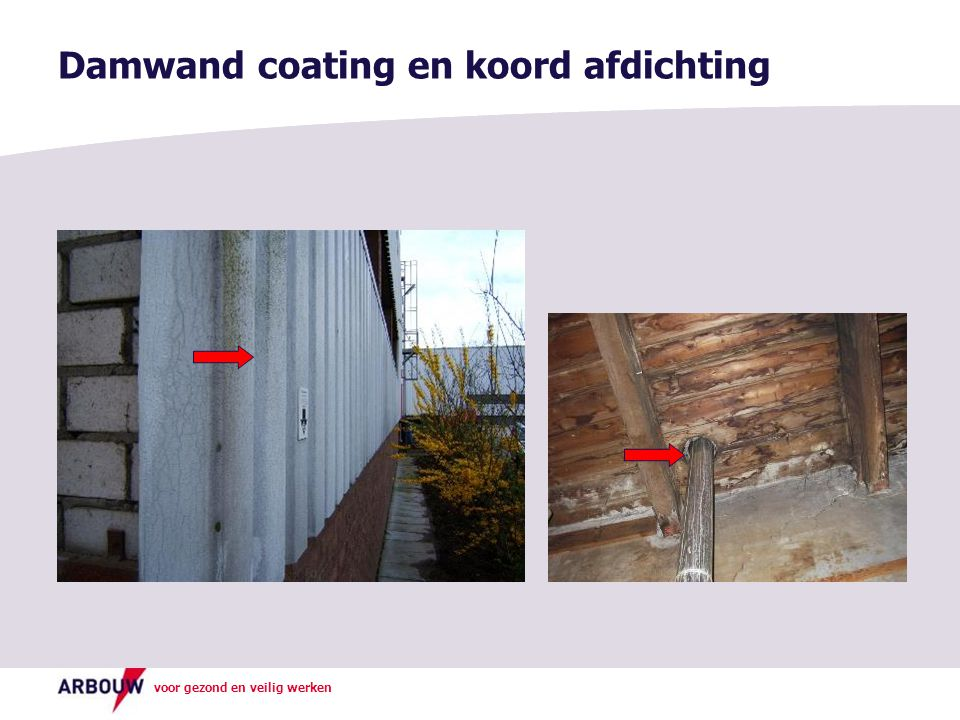 Damwand coating en koord afdichting