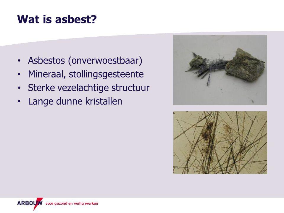 Wat is asbest Asbestos (onverwoestbaar) Mineraal, stollingsgesteente