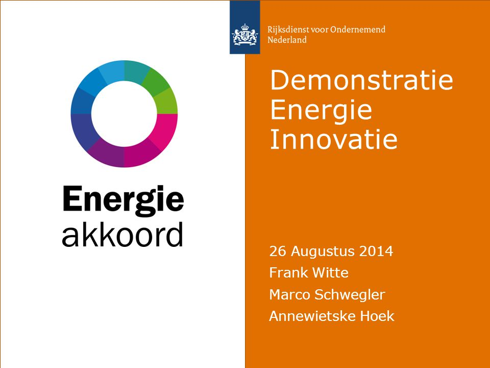 Demonstratie Energie Innovatie