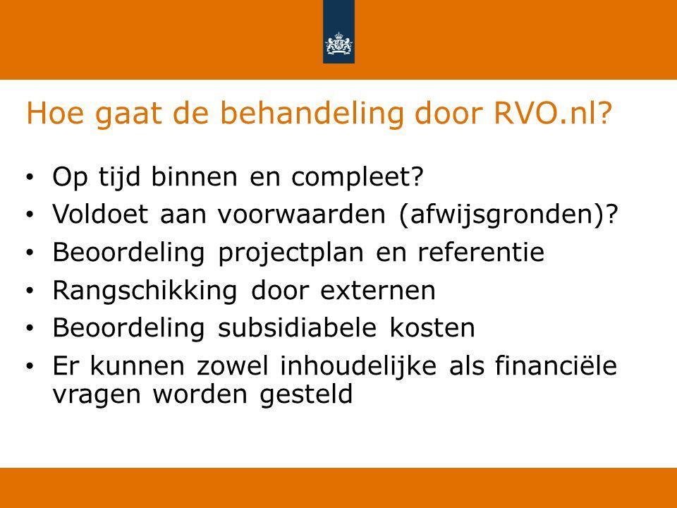 Hoe gaat de behandeling door RVO.nl