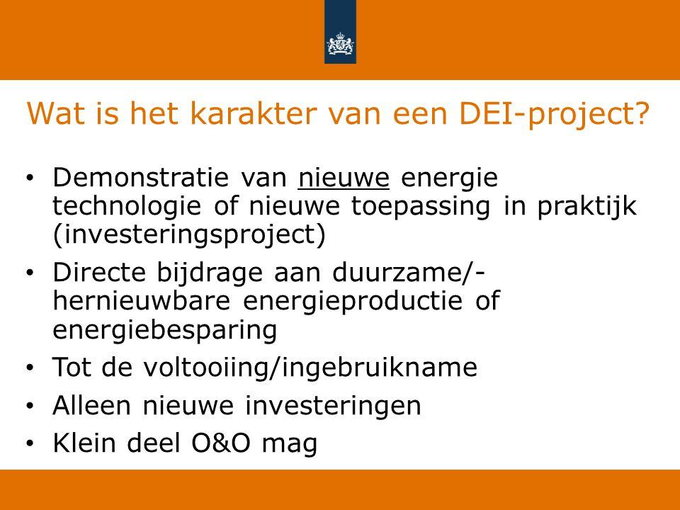 Wat is het karakter van een DEI-project