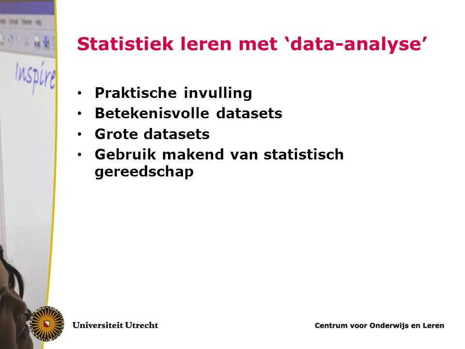Statistiek leren met 'data-analyse'