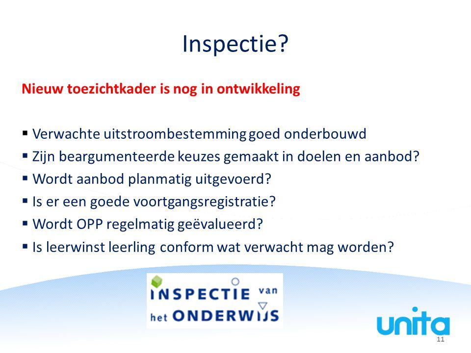 Inspectie Nieuw toezichtkader is nog in ontwikkeling