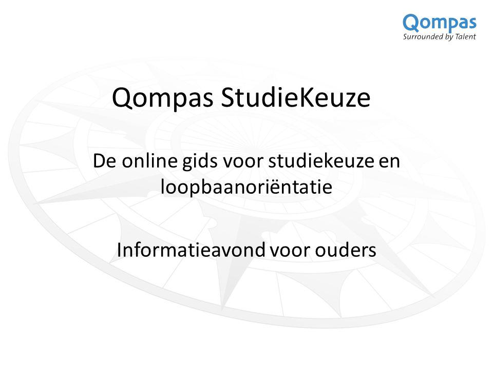 Qompas StudieKeuze De online gids voor studiekeuze en loopbaanoriëntatie.