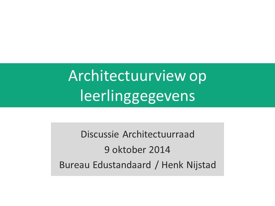 Architectuurview op leerlinggegevens