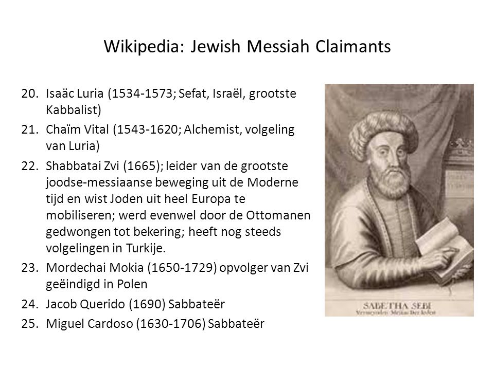 Wikipedia: Jewish Messiah Claimants