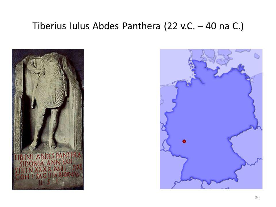 Tiberius Iulus Abdes Panthera (22 v.C. – 40 na C.)
