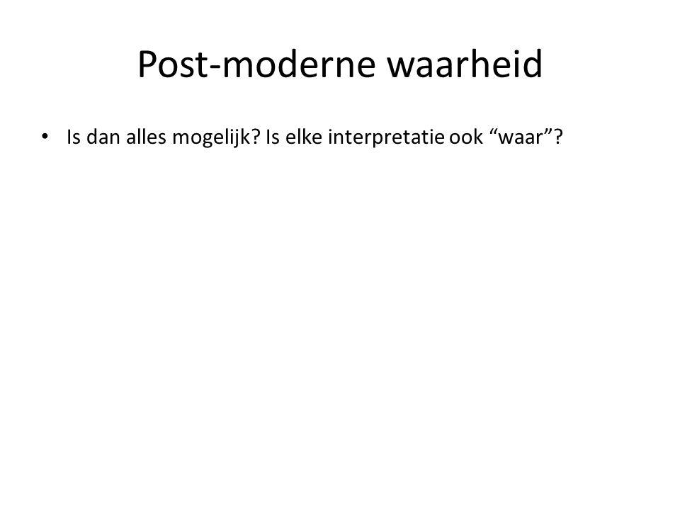 Post-moderne waarheid