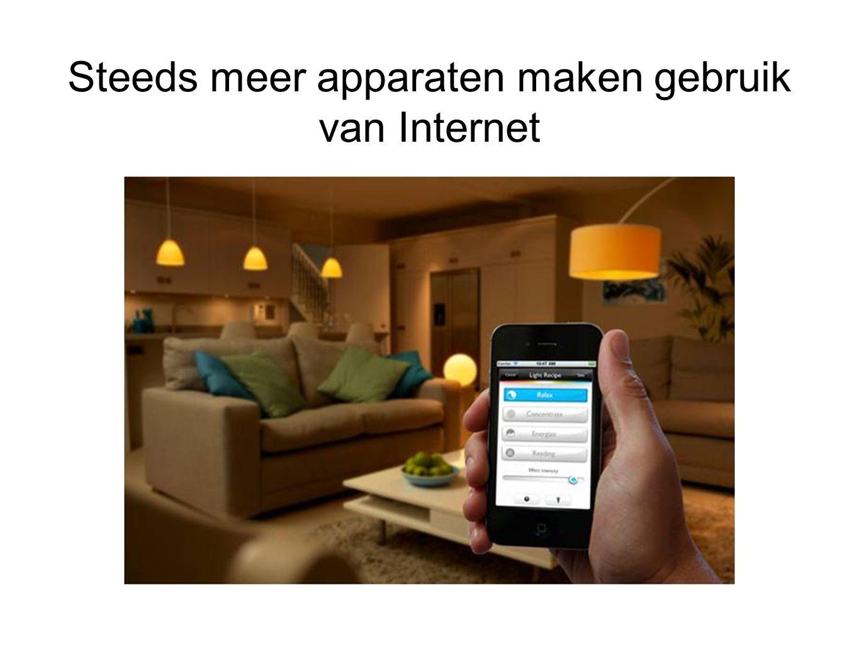 Steeds meer apparaten maken gebruik van Internet