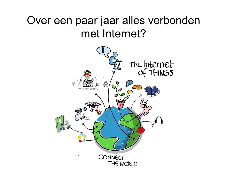 Over een paar jaar alles verbonden met Internet