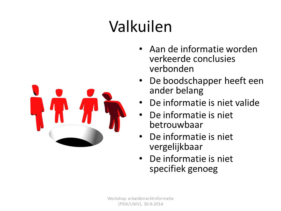 Workshop arbeidsmarktinformatie (PSW/UWV), 30-9-2014