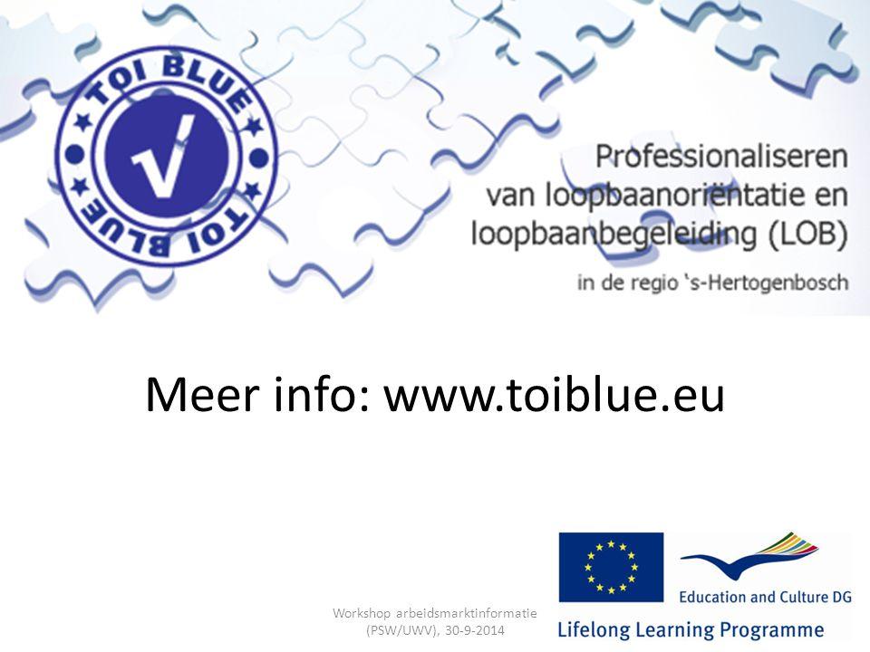 Meer info: www.toiblue.eu
