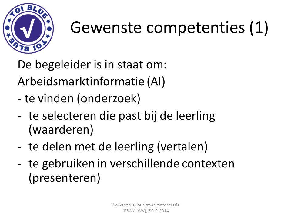 Gewenste competenties (1)