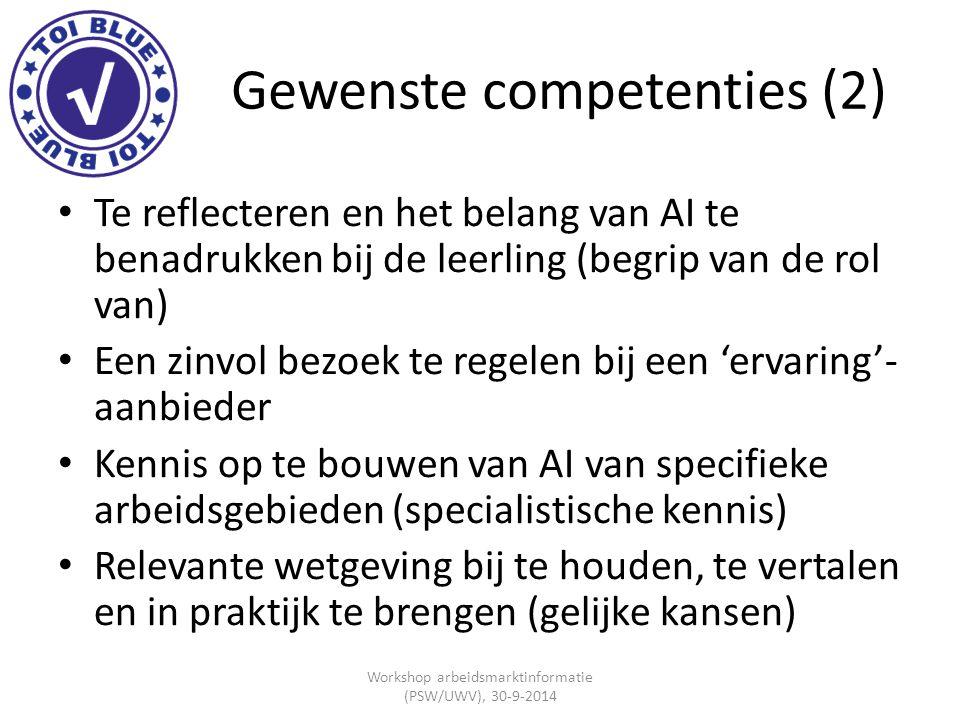 Gewenste competenties (2)