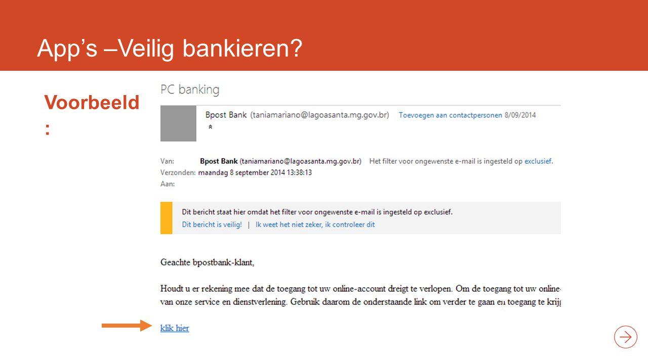 App's –Veilig bankieren